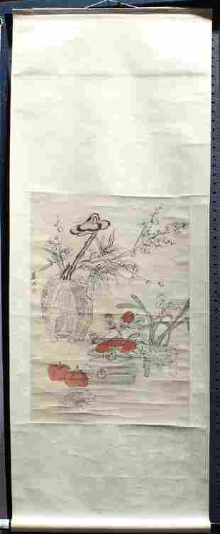 Chinese school, Antiquities, hanging scroll