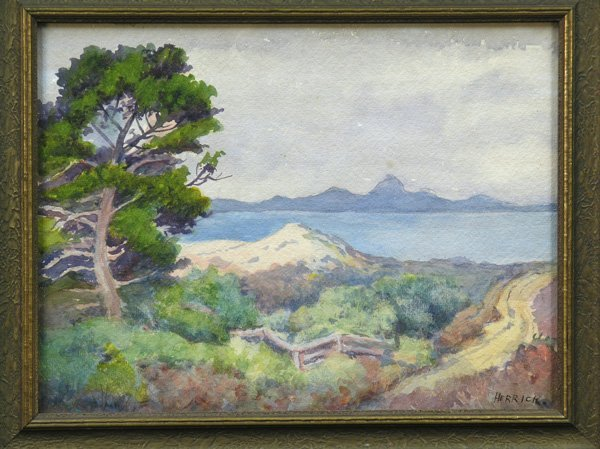 2002: Watercolor, Mary Herrick Ross, Landscape and Ocea