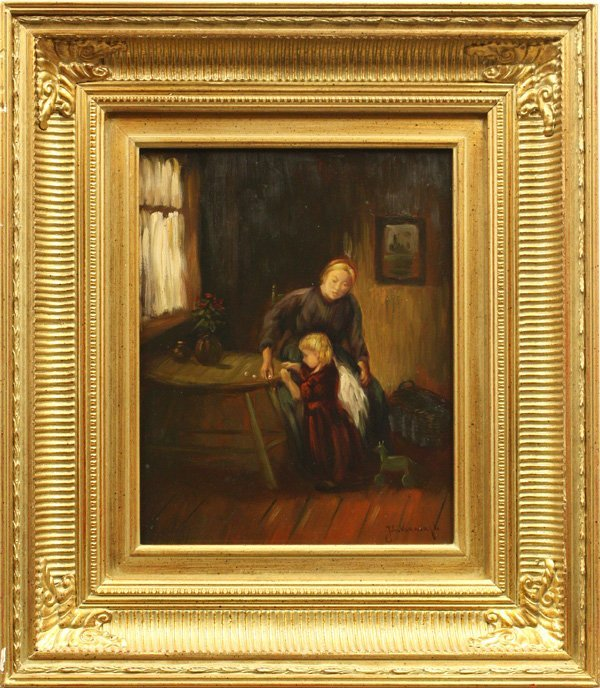 2004: Painting, JC Verbrugh, Mother with Child, Interio