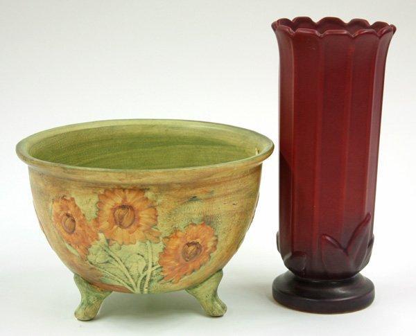 2011: Weller Art Pottery bowl, vase