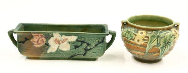 2016: Roseville Art Pottery planter, bowl