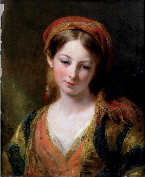 2186: painting, Margaret Sarah Carpenter, Portrait
