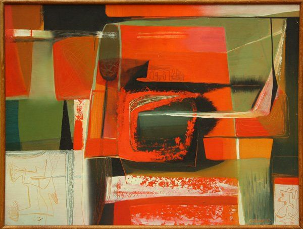 2209: Painting, Dorr Bothwell, Recollection, Abstract