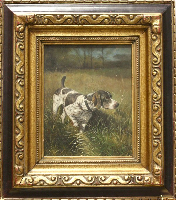 3: Painting, L. Cassidy, Pointer, Hunting Dog