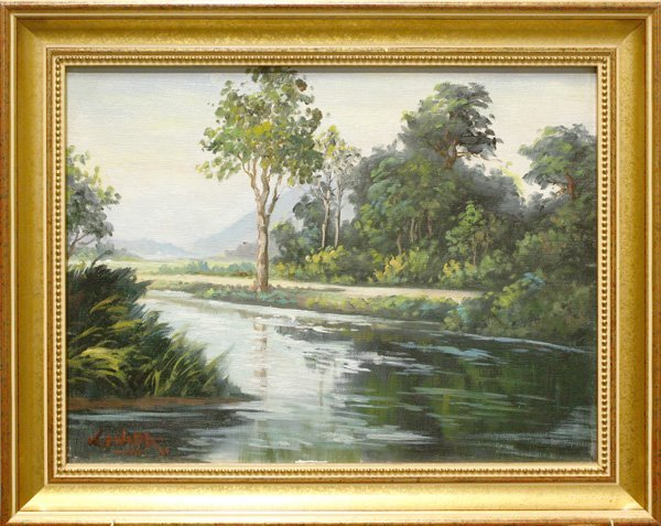 5: Painting, Landscape with River