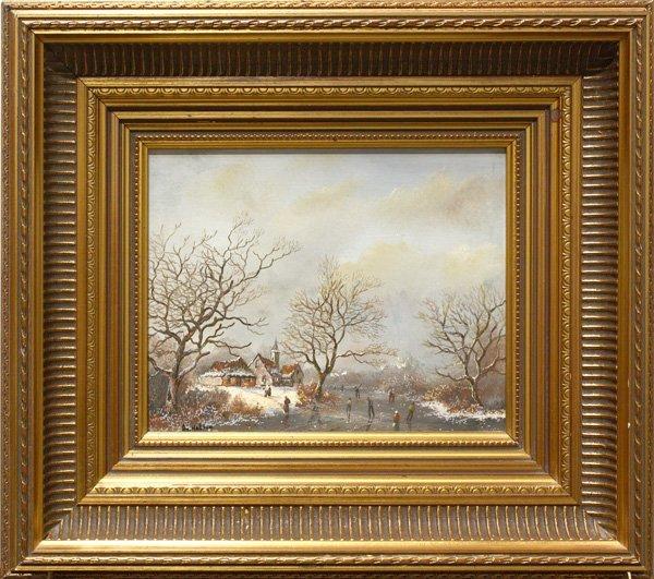 6: Painting, Winter Landscape, Av. Haften