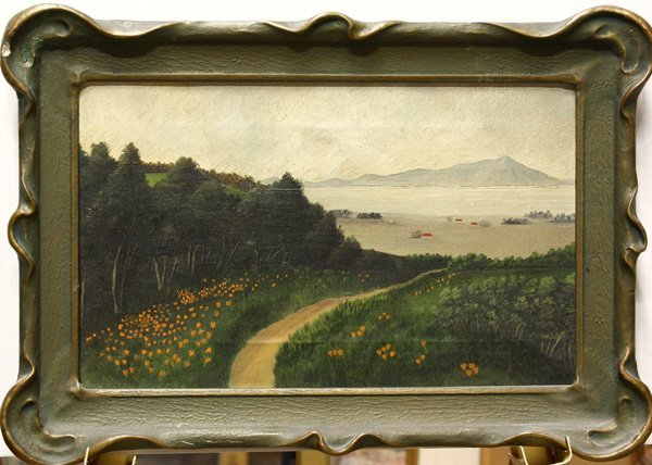 7: Painting, Landscape with California Poppies