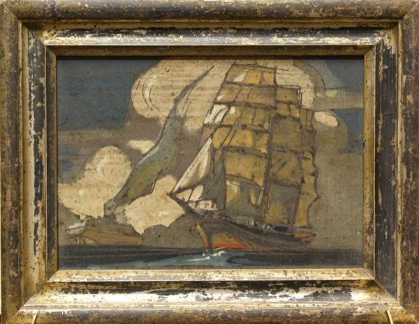 9: Painting, Clipper Ship, Steamboat