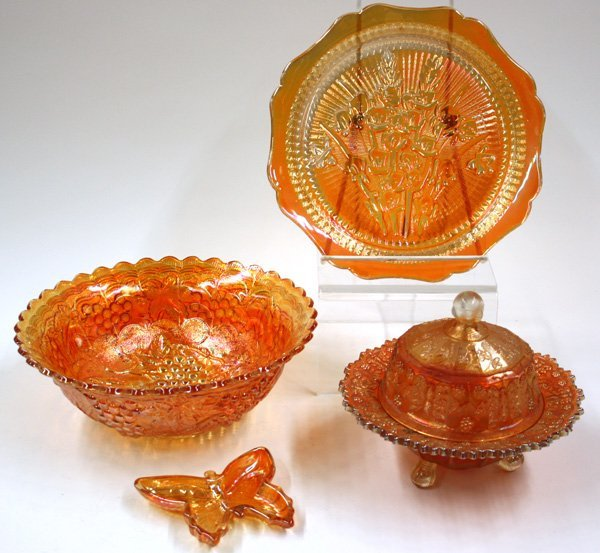 10: marigold carnival and art glass