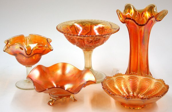 11: marigold carnival and art glass