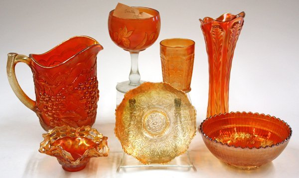 13: marigold carnival and art glass