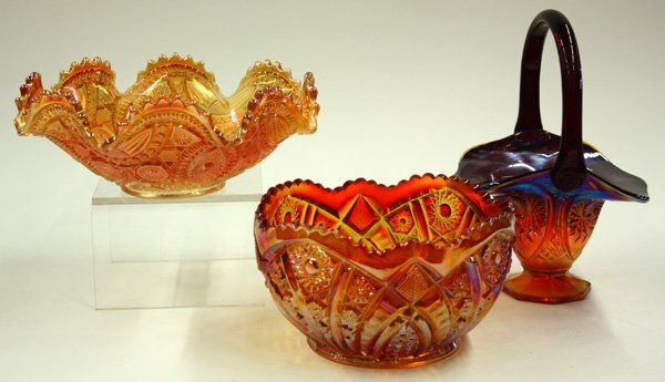 14: marigold carnival and art glass