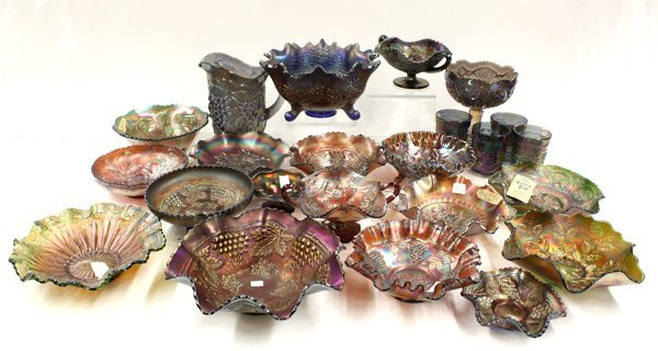 16: amethyst carnival and art glass