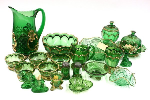 20: green and gilt Riverside Glass Works
