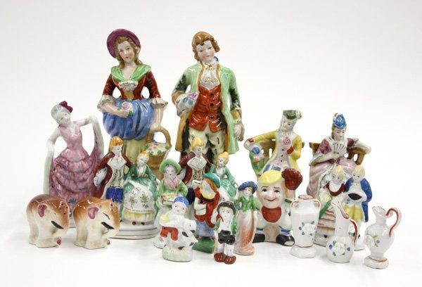22: Occupied Japan polychromed figurines