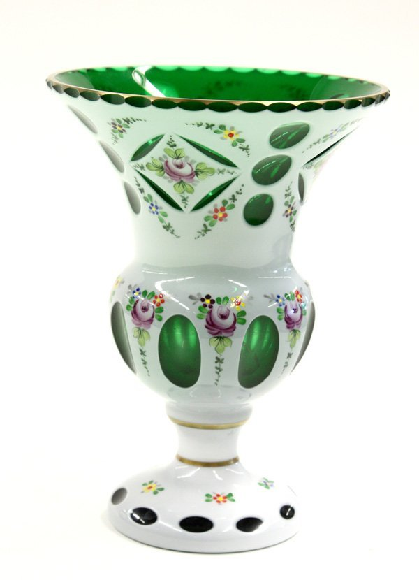 23: Bohemian glass vase