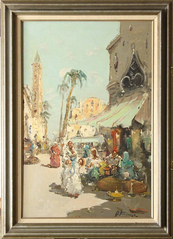 265: Painting, Oriental Market, Orientalism