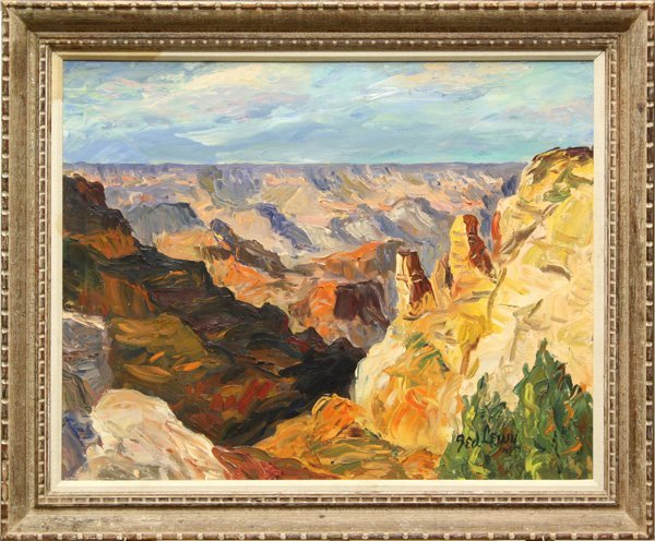 284: Painting, Ted Lewy, Grand Canyon