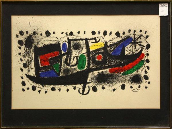 346: lithograph, Joan Miro, Star Scene