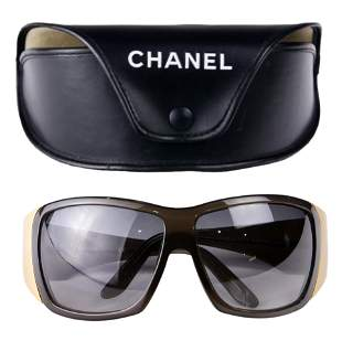 A pair of Chanel acetate sunglasses