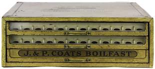 J & P Coats BOILFAST Threads tole advertising chest