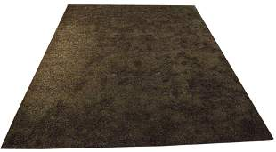 "Large modern brown shag carpet, 12'2"" x 15'5"""