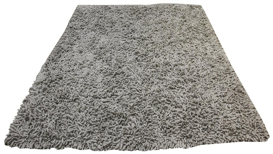 An Indian cotton and wool shag carpet