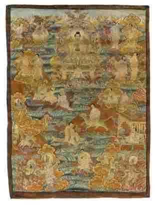 Tibetan thangka of the Medicine Buddha