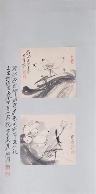 Attributed to Zhang Daqian (Chinese, 1899-1983), set of