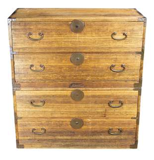 Japanese chest-on-chest isho tansu