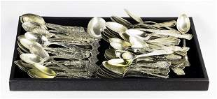(lot of approx 105) Silver tea or demitasse spoons