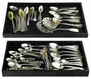 (lot of 65) Silver flatware, mostly spoons