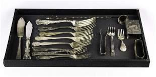(lot of 20) Sterling utensil group