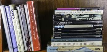 One shelf of art books