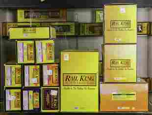 (lot of approx. 13) Boxed model train car and shops