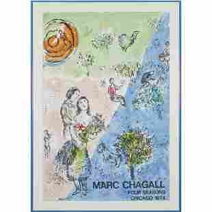 Print, Marc Chagall, Four Season, Chicago
