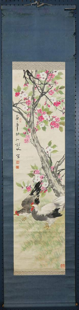 Anonymous artist, Chinese school, Prunus Tree, hanging