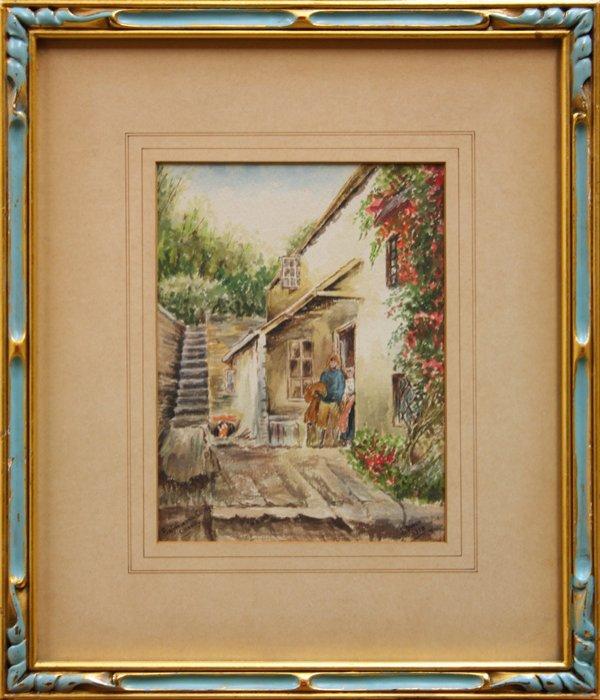 6000: watercolor, J. Owen, 1918, Fisherman