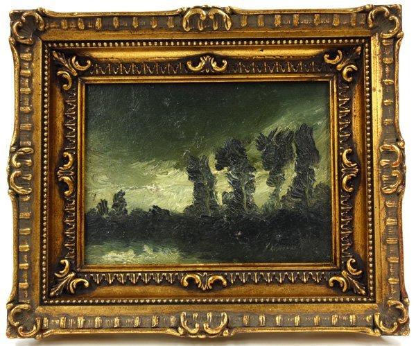 6001: painting, Johnannes Lodeizen, Trees, Nocturne