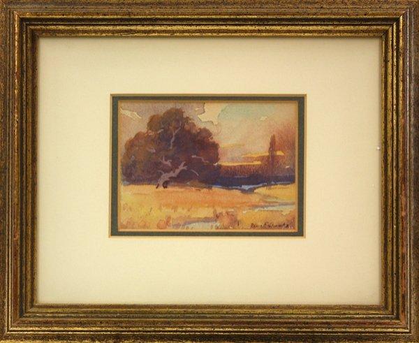 6002: watercolor, Davis Francis Schwartz, Californian