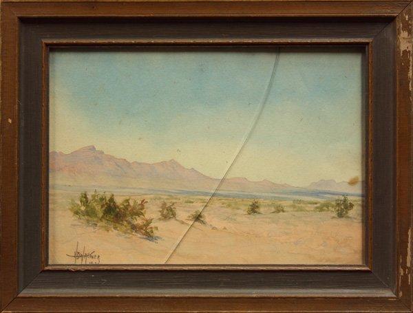 6003: watercolor, Harry B. Wagoner, Desert Scene