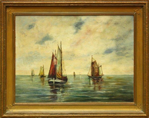 6007: painting, Sail Boats