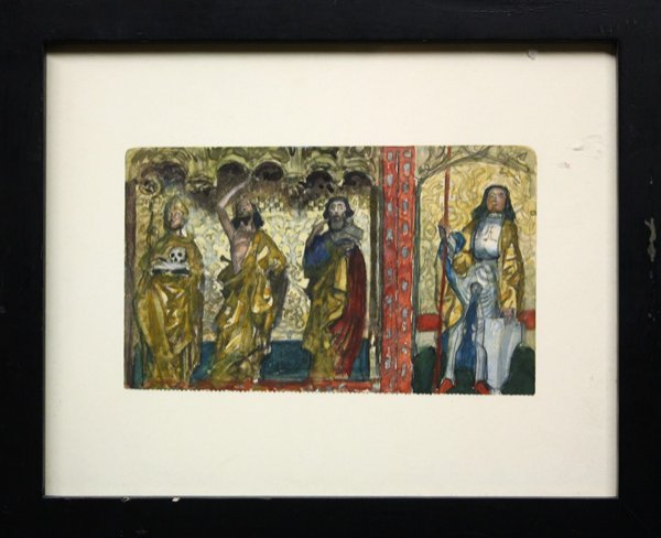 6008: watercolor, Charles Hoffbauer,