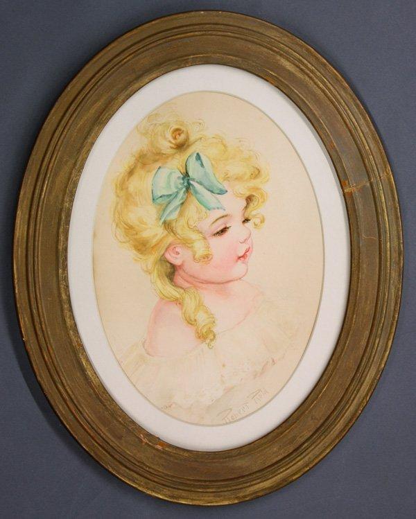 6009: watercolor, Robert Reid, Portrait of Child