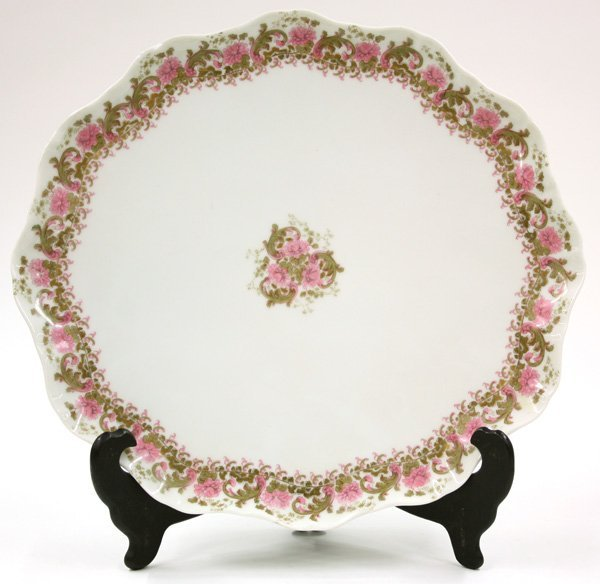 6016: Large J.Povyat, Limoges porcelain charger