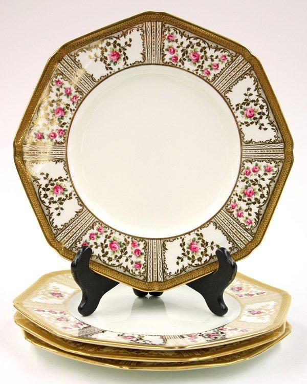 6017: Cauldon, England porcelain plates