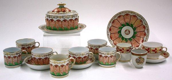6018: Mid 19th century porcelain set