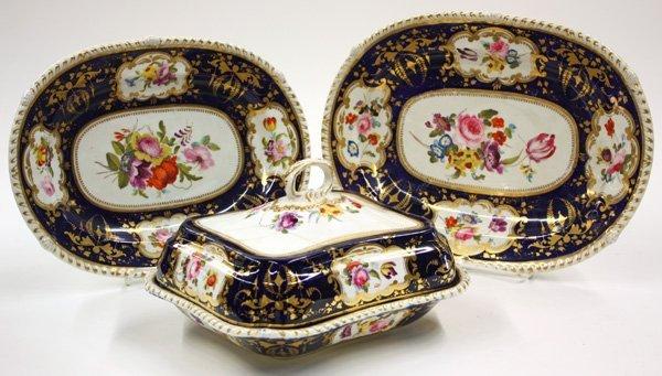 6021: English porcelain serving pieces
