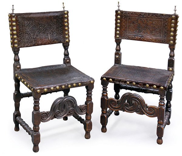 6150: Spanish/Portuguese Baroque period dining chairs