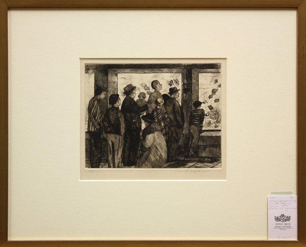 6369: etching, Jeanette Maxfield Lewis, Aquarium